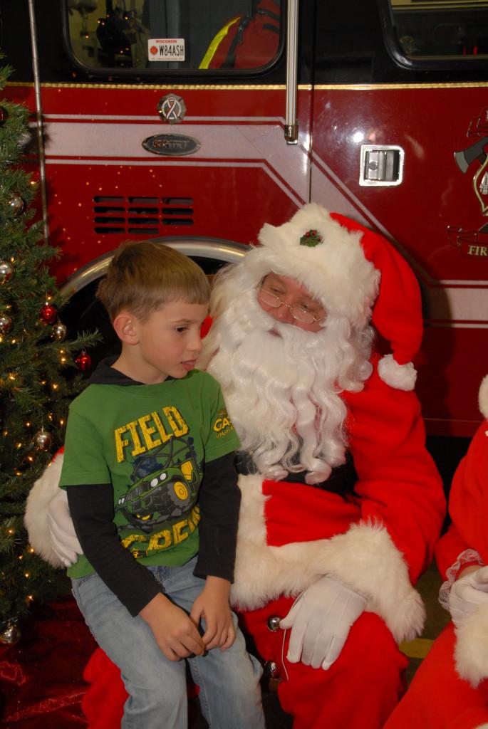 Kansasville Fire Santa Photos