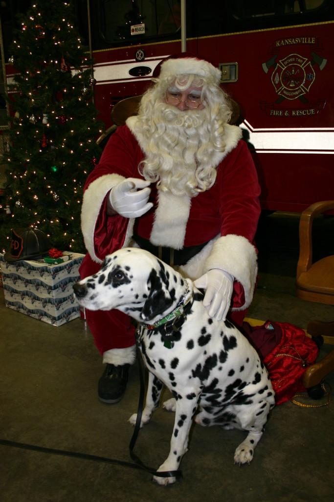 Kansasville Fire Santa Claus