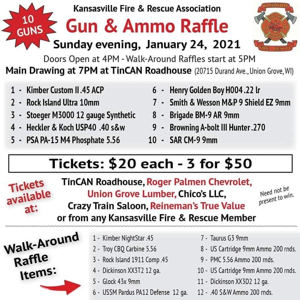 Kansasville Fire And Rescue Gun Raffle